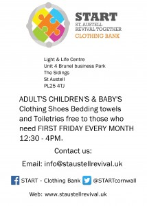 new clothing bank poster